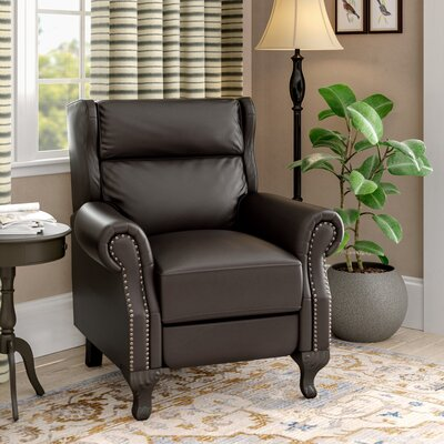 Andress Manual Recliner Upholstery: Black Berry