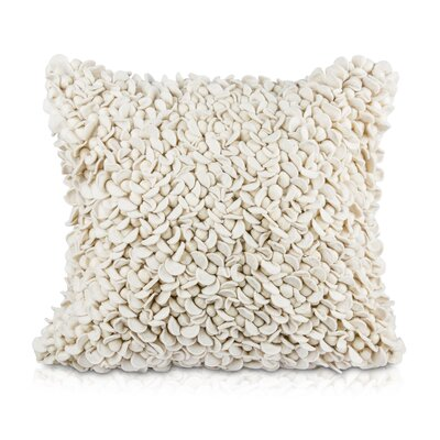 Patan Throw Pillow Color: Ivory