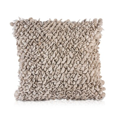Patan Throw Pillow Color: Beige