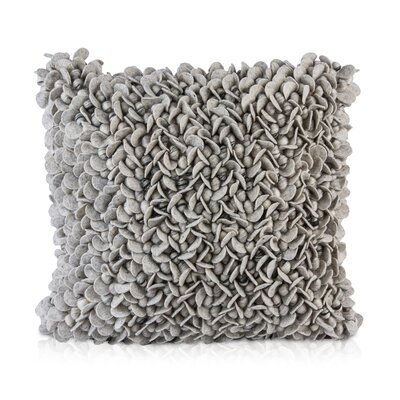 Patan Throw Pillow Color: Gray/Silver