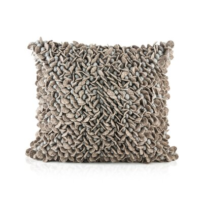 Patan Throw Pillow Color: Wood/Gray