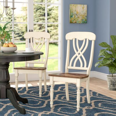 Sisson Solid Wood Dining Chair (Set of 2) Finish: Antique White