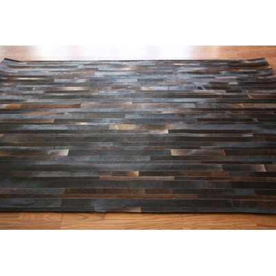 One-of-a-Kind Bellmont Patchwork Hand-Woven Cowhide Brown/Black Area Rug