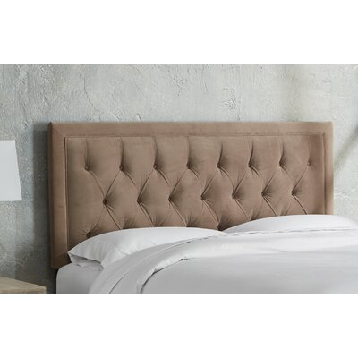 Leahy Tufted Upholstered Panel Headboard Size: California King, Color: Cocoa