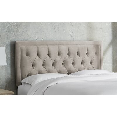 Leahy Tufted Upholstered Panel Headboard Size: Full, Color: Light Gray