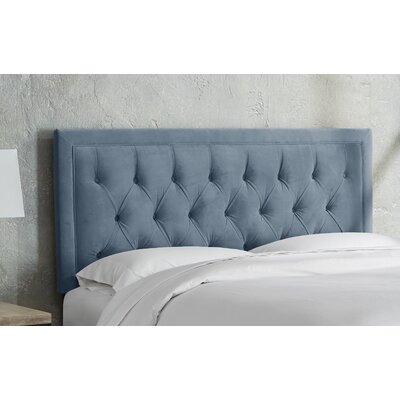 Leahy Tufted Upholstered Panel Headboard Size: Twin, Color: Ocean