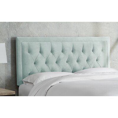 Leahy Tufted Upholstered Panel Headboard Size: King, Color: Pewter