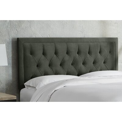 Leahy Tufted Upholstered Panel Headboard Size: Full, Color: Pool