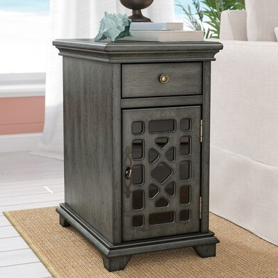 Mauldin End Table with Storage Color: Gray