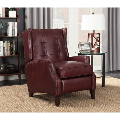 Lincoln Leather Manual Recliner Upholstery: Wenlock Carmine