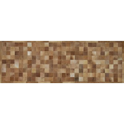 One-of-a-Kind Klahr Hand-Woven Cowhide Camel Area Rug