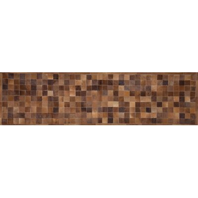 One-of-a-Kind Klahr Hand-Woven Cowhide Brown Area Rug