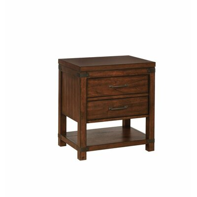 Dilay 2 Drawer Nightstand