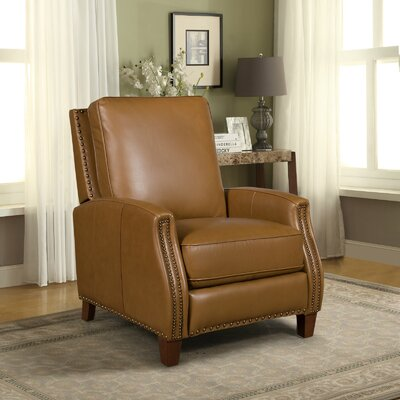 Melrose Leather Manual Recliner Upholstery: Shoreham Ponytail