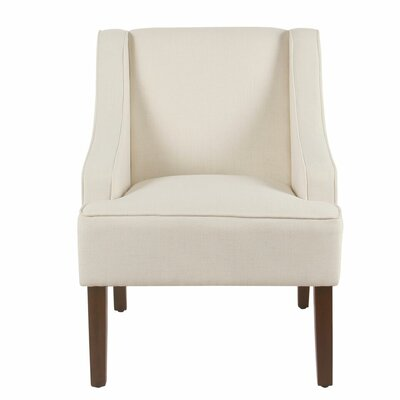 Lacombe Swoop Armchair Upholstery: Cream