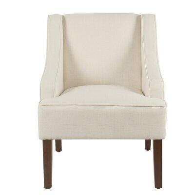 Lacombe Swoop Armchair Upholstery: Cream