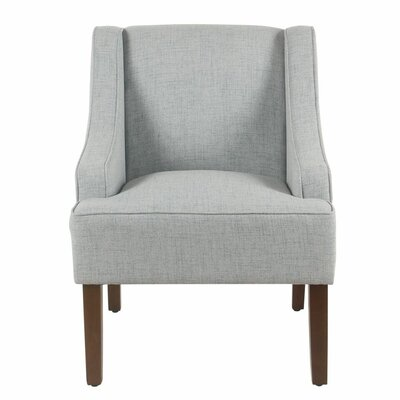 Lacombe Swoop Armchair Upholstery: Light Blue