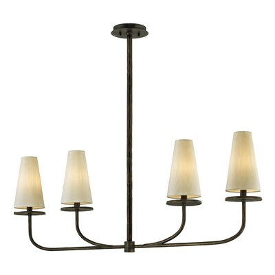 Oatman 4-Light Kitchen Island Pendant Fixture Finish: Pompeii Bronze