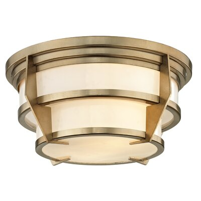 Hooley 2-Light Flush Mount Size: 6.25 H x 13 W x 13 D