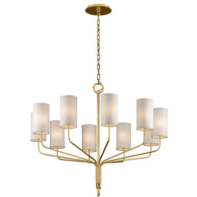Obando 10-Light Candle-Style Chandelier Finish: Textured Gold Leaf
