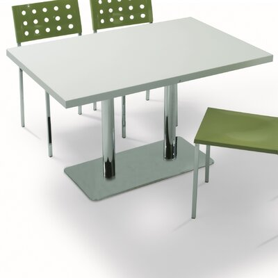 Dandoy Dining Table Base Color: Chrome