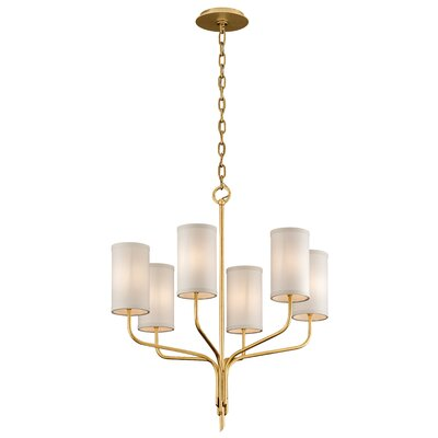 Obando 6-Light Candle-Style Chandelier Finish: Textured Gold Leaf