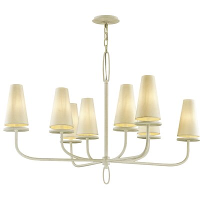 Oatman 8-Light Candle-Style Chandelier Finish: White
