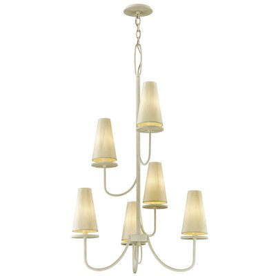 Oatman 6-Light Candle-Style Chandelier Finish: White
