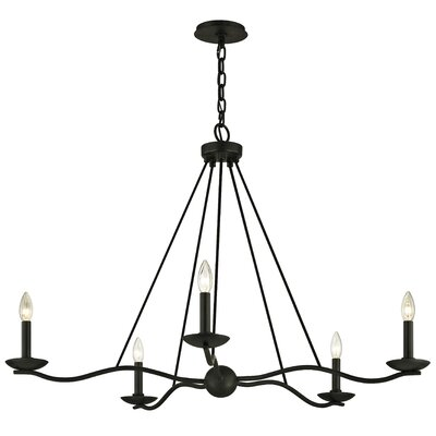 Hawking 5-Light Candle-Style Chandelier