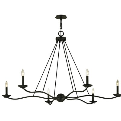 Hawking 6-Light Candle-Style Chandelier