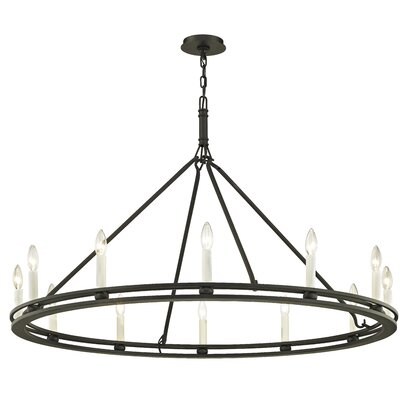 Teixeira 12-Light Candle-Style Chandelier Finish: Textured Black