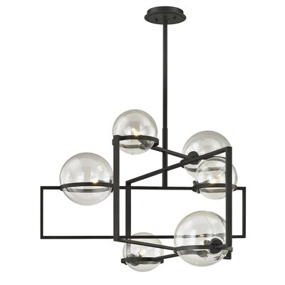 Earnest 6-Light Geometric Pendant