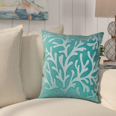 Farnham Embroidery Coral Island Velvet Throw Pillow
