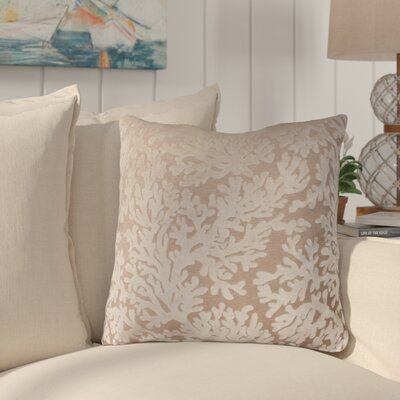 Jefferson Place Coral Throw Pillow  Color: Antique White