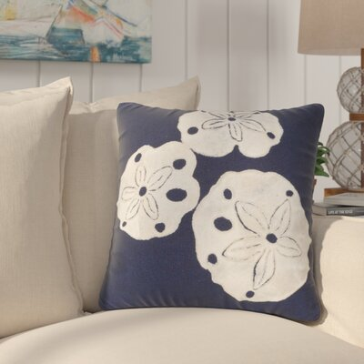 Hugo Sand Dollar Indoor/Outdoor Throw Pillow Color: Navy, Location: Indoor/Outdoor