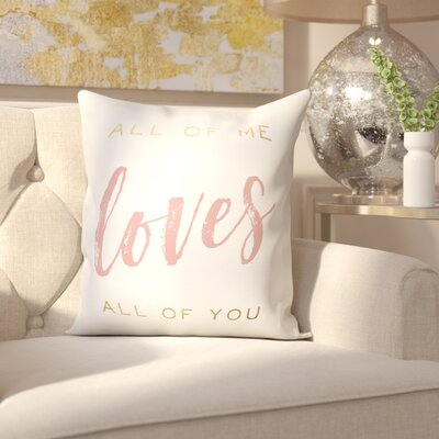 Hernadez All of Me and You Throw Pillow
