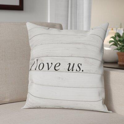 Beauvallon I Love Us Square Throw Pillow