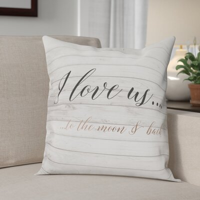 Beauvallon I Love Us to the Moon and Back Throw Pillow