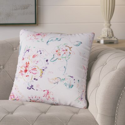 Primavera Linen Throw Pillow Color: White