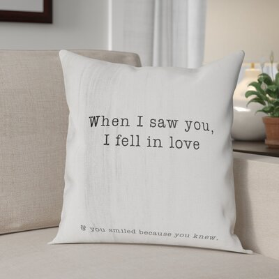 Beaumont When I Saw You Throw Pillow