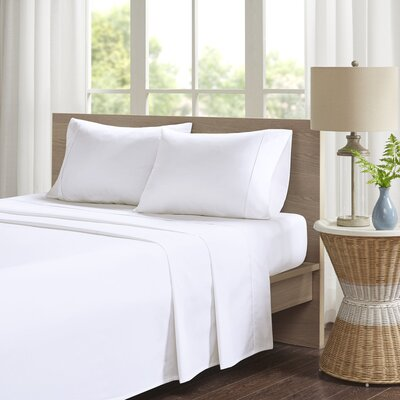 Eliason Sheet Set Size: King, Color: White