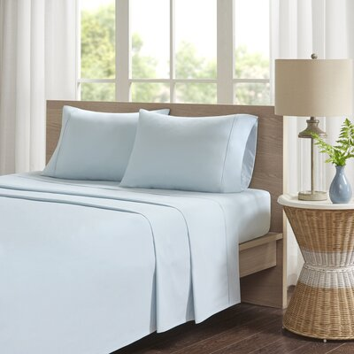Eliason Sheet Set Size: Queen, Color: Aqua
