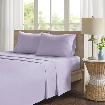 Eliason Sheet Set Size: King, Color: Purple