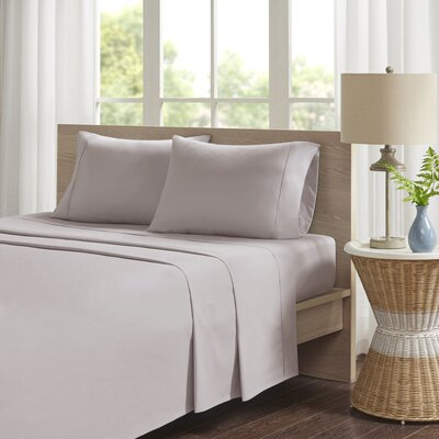 Eliason Sheet Set Size: Twin, Color: Gray