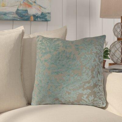 Jefferson Place Coral Throw Pillow  Color: Harbor Blue