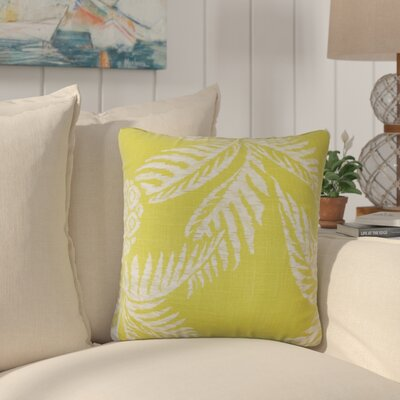 Dre Floral Down Filled 100% Cotton Throw Pillow Size: 18 x 18, Color: Peridot