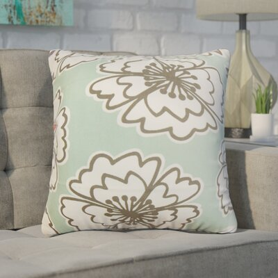 Arrant Floral Cotton Throw Pillow Color: Blue