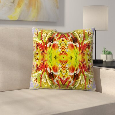 Yucca Flower Curved 2 Throw Pillow Size: 16 x 16