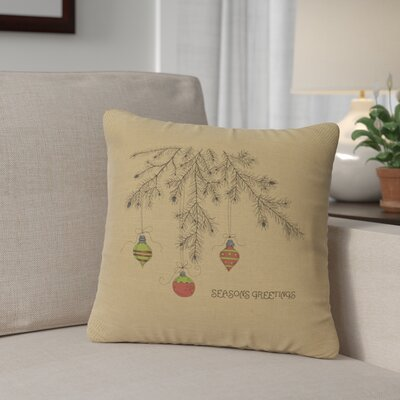 Brownlee Bulbs Throw Pillow Color: Straw