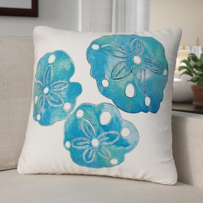 Hugo Sand Dollar Indoor/Outdoor Throw Pillow Location: Indoor/Outdoor, Color: Blue